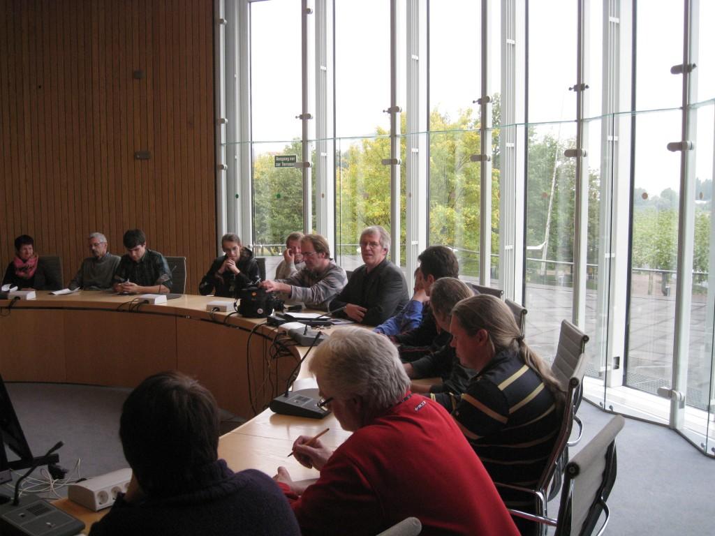 Mit Frank Herrmann im Fraktionssaal