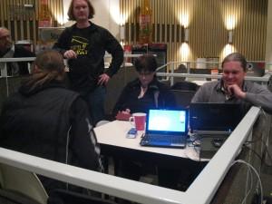Norman, Mirjam und Heiko im Séparée